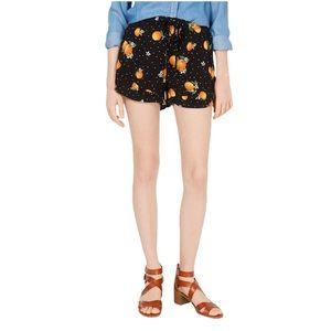Bebop Orange Ruffle Flowy Shorts